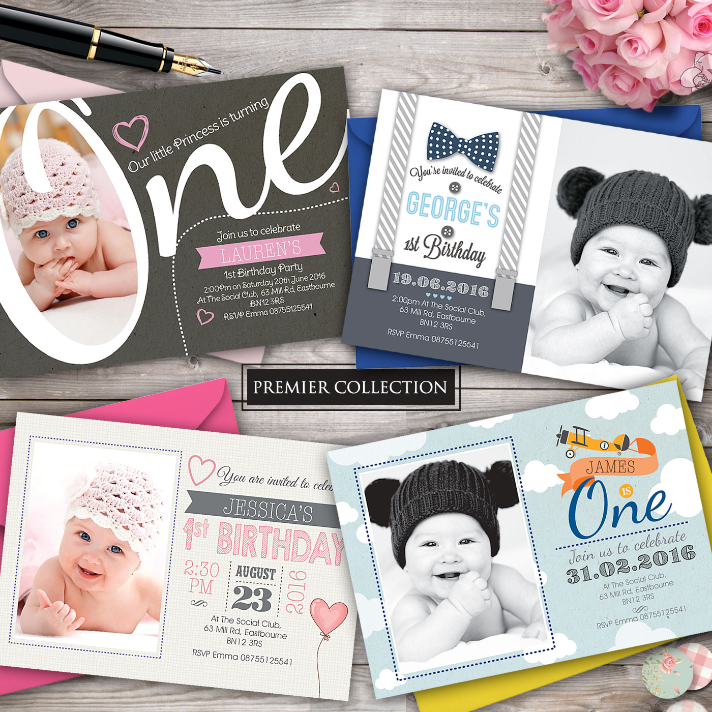 1st Birthday Invites